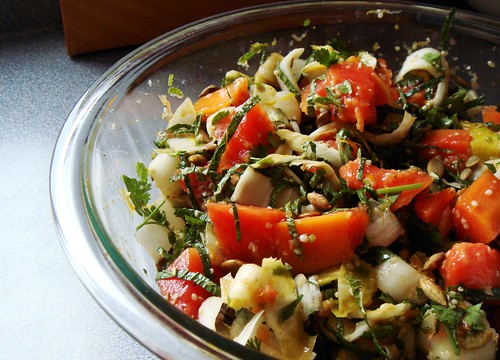 Papaya Endive Salad