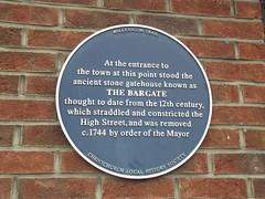 Photo of Bargate, Christchurch blue plaque
