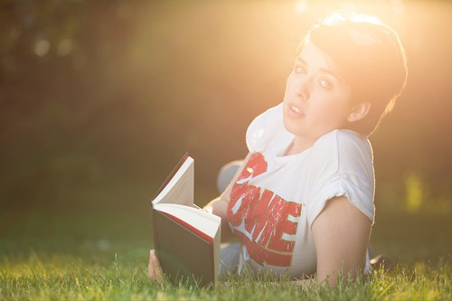 Evening Read (Backlit Summer Portrait), London by flatworldsedge