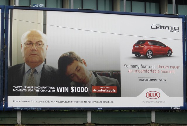 Kia advertising at Malvern station