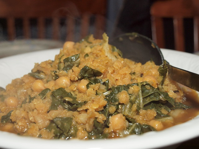 Curried red lentil and Swiss chard stew with garbanzo bean… | Flickr ...