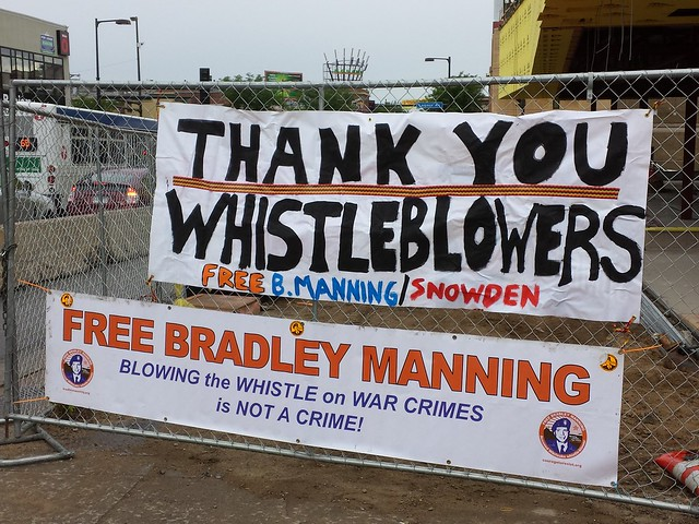 July 27, 2013. Minneapolis Rally for Bradley Manning! from Flickr via Wylio