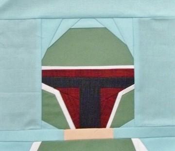 Paper pieced LEGO Boba Fett
