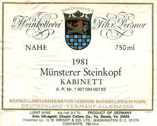 Münsterer Steinkopf 1981 (Nahe)