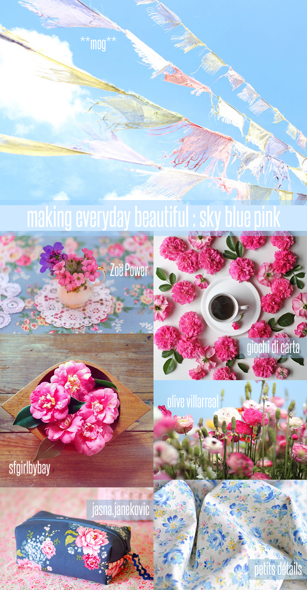 making everyday beautiful : sky blue pink | Emma Lamb