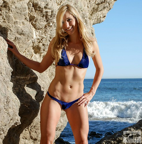 Beautiful Blue Eyed Blonde Swimsuit Bikini Fitness Model Goddess!