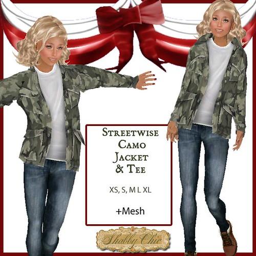 Shabby Chic Streetwise Camo Jacket by Shabby Chics