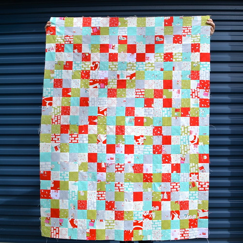 Cherry Christmas baby quilt