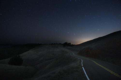 california road sky night stars landscape horizon hills marincounty nightsky mounttamalpais Astrometrydotnet:status=solved ridgecrestblvd Astrometrydotnet:id=supernova9882
