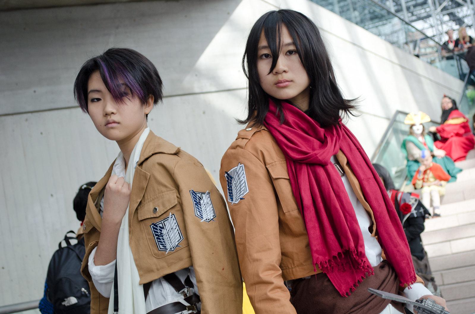 NYCC Mikasa & Levi Cosplay