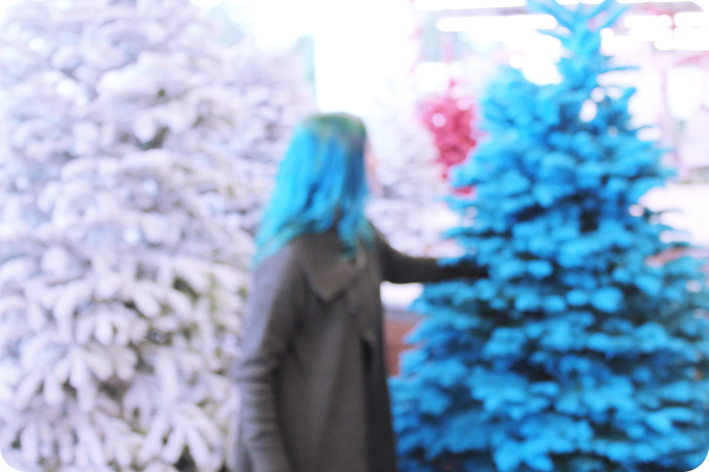 {december 1} our tree | blurry