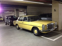 mercedes-benz w123(0.0), automobile(1.0), automotive exterior(1.0), vehicle(1.0), mercedes-benz w108(1.0), mercedes-benz w114(1.0), mercedes-benz(1.0), compact car(1.0), mercedes-benz w111(1.0), sedan(1.0), classic car(1.0), land vehicle(1.0), luxury vehicle(1.0),