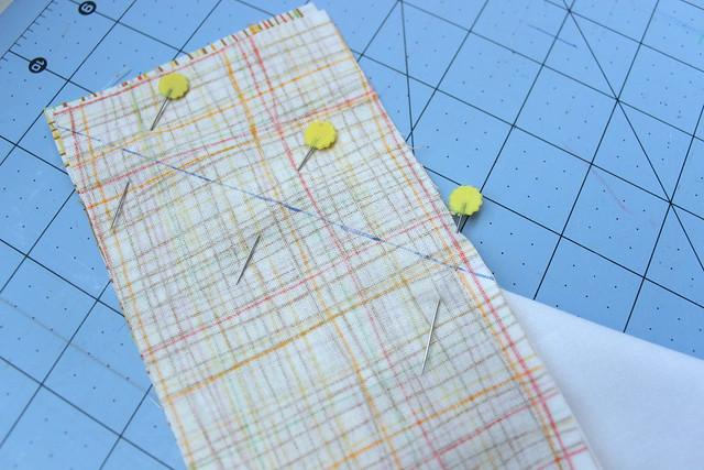 sew the corner