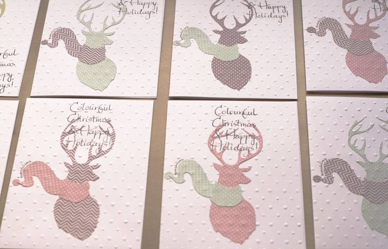 Created plenty of polka-dot deer