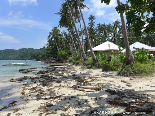 Beach Front of Gawad Kalinga Beach Lodge and Restaurant in El Nido, Palawan, Philippines