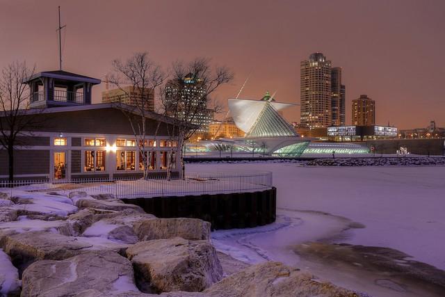 Winter Night at Harbor House