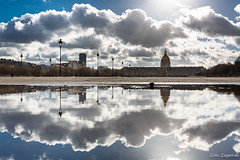 Clouds wet mirror on Invalides