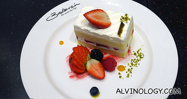 Strawberry Shortcake (S$8.80) - Bakerzin's signature dessert made with Japanese flour for a moist, fluffy and airy cake. Layered with freshly-whipped cream and plume strawberries.