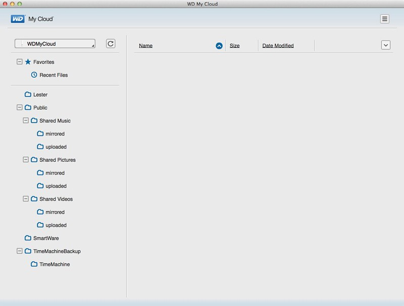 WD My Cloud Mac App - File Browser