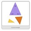Acute Triangle - Math Vocabulary