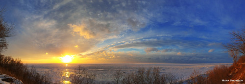 winter sunset sky panorama lake seascape color ice beach nature clouds landscape exposure michigan stjoseph lakemichigan greatlakes lakeshore iphone