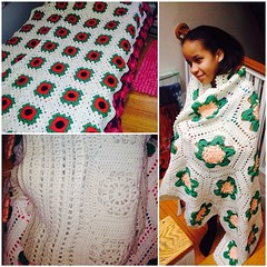 helping my grandma Jean sell her #handmade #afghans message me if you're interested.
