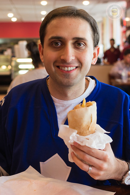 Anees with Shawarma