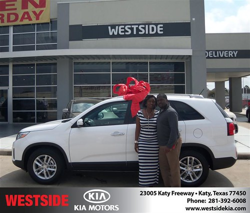 Happy Anniversary to Emmanuel Jackson on your 2014 #Kia #Sorento from Rizkallah Elhallal and everyone at Westside Kia! #Anniversary by Westside KIA