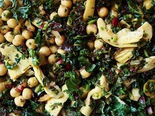 Kale Chickpea Artichoke Salad