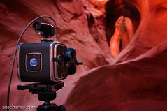 Hasselblad SWC in Peek-A-Boo Canyon