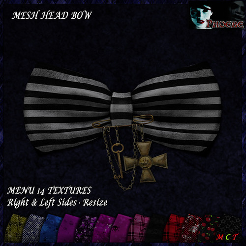[NEW ON SALE!] *P* Pam Head Bow ~14 Textures~