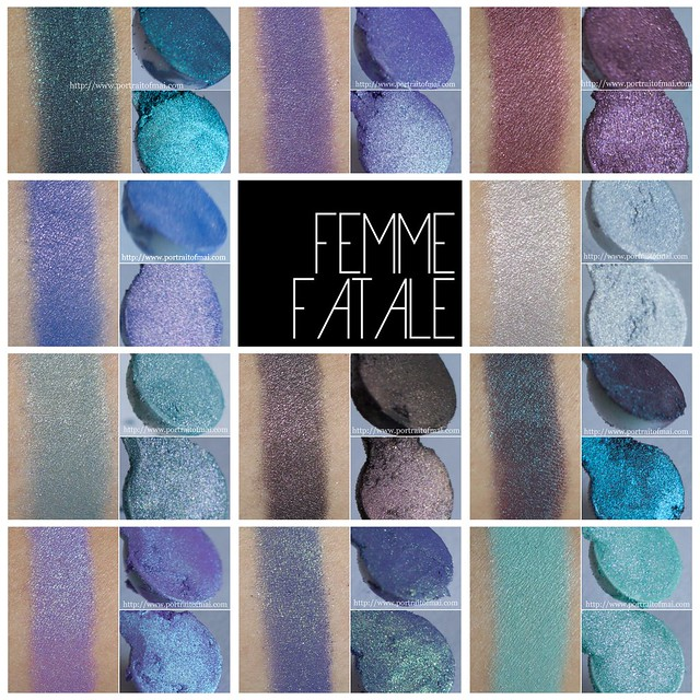 femme fatale cosmetics collage