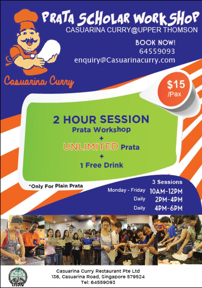 Prata Scholar Workshop at Casuarina Curry Restaurant @ Upper Thomson - Alvinology
