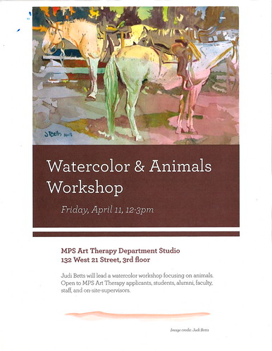 Judi Betts Workshop: WATERCOLOR AND ANIMALS