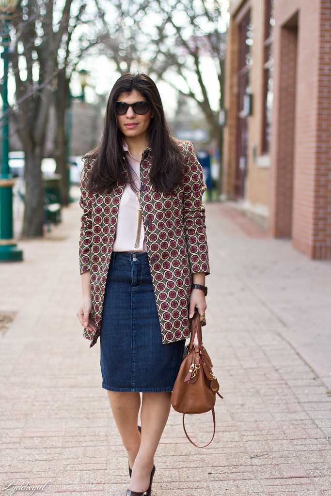 denim pencil skirt, printed jacket-1.jpg