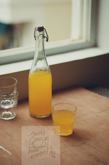 Refreshing orange drink