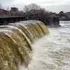 Just a little bit of water going over Rideau Falls today.