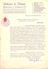 IV/2.a. Weissbrunn Zsigmond zsák-, zsineg-, ponyvakereskedő zsákkölcsönző üzletére vonatkozó zárlat hatályon kívül helyezésének kérelme.
