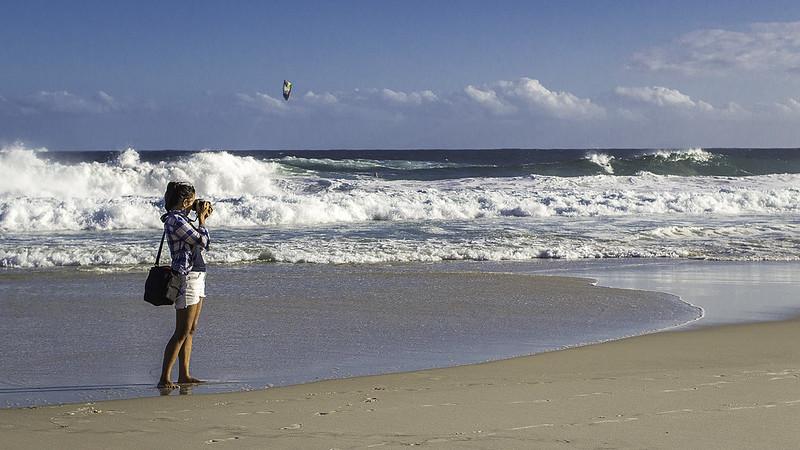 Shoting the beach...
