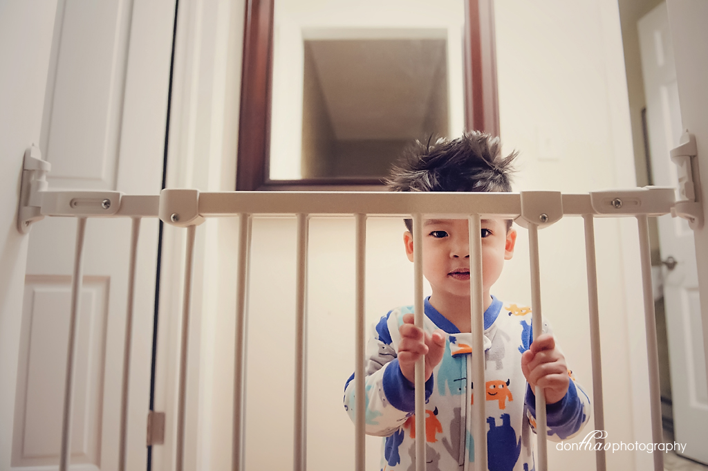 personal 365 - toddler at the gate lifestyle photography