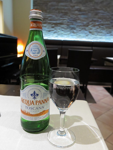 Aqua Panna (Wasser im Ristorante Da Paolo am Rosenplatz in Osnabrück)