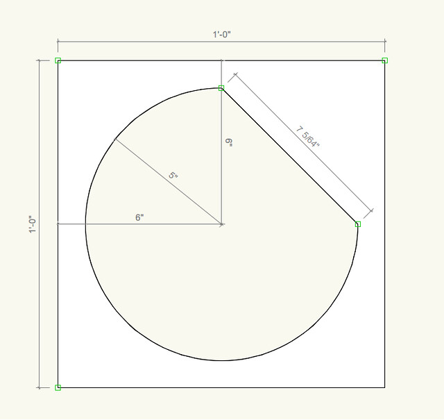 Drawing for routed shape