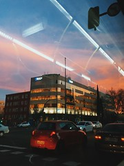 Commuting sunset in Madrid.
