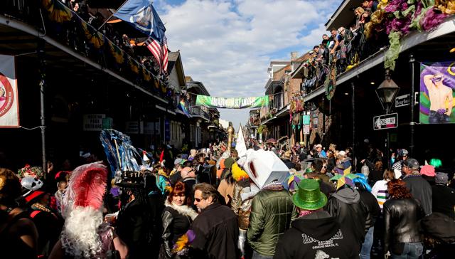 Bourbon Street on Fat Tuesday