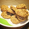 Weekend activity: Tried the Chocolate Chip Oatmeal cookies from Lori's book, Dessert Comes First. Oven had a fit and won't maintain consistent temperature hence resulting to irregularities in shape. :stuck_out_tongue_winking_eye: #BakersFair #cookies #bak