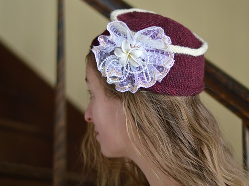 frilly hat