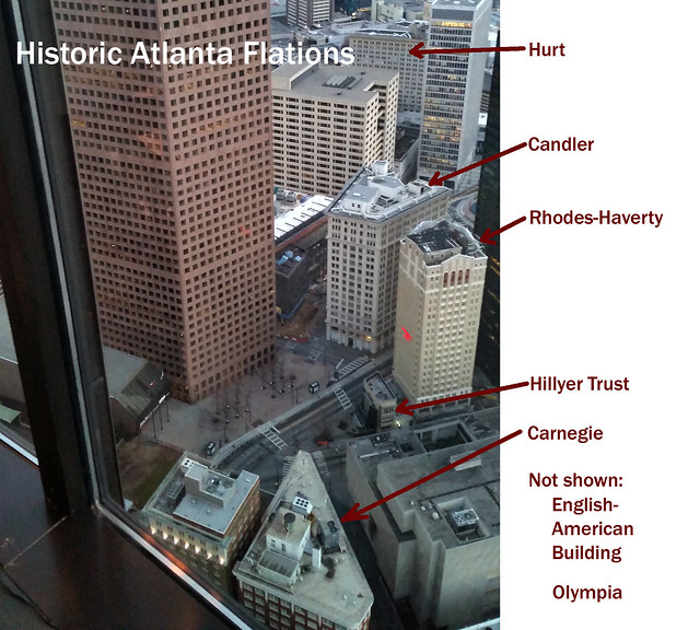 20150208_181718 2015-02-08 weloveatl Instameet Atlanta flatiron flat iron buildings from Sundail Westin Peachtree Plaza