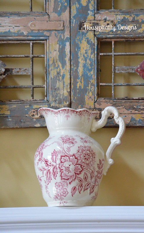 Red Transferware Pitcher-Housepitality Designs