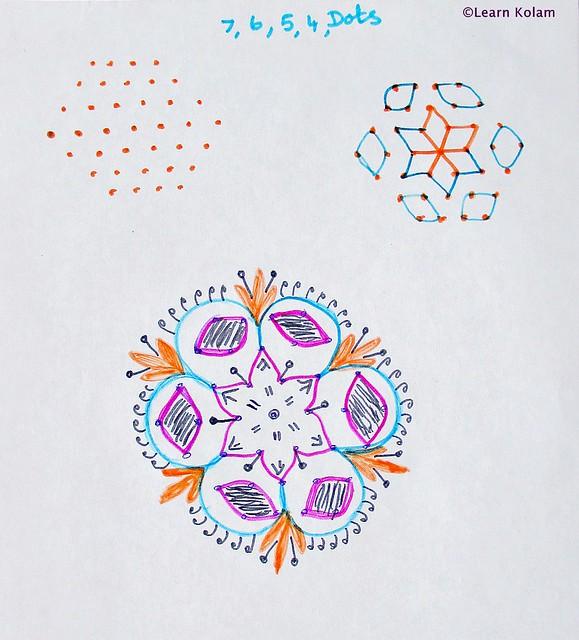 Apartment kolam with dots