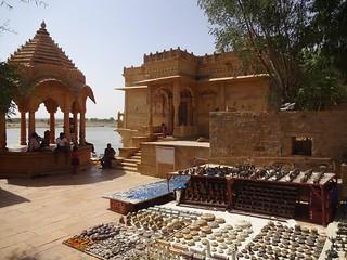 A souvenir shop on the banks of Ghadsisar